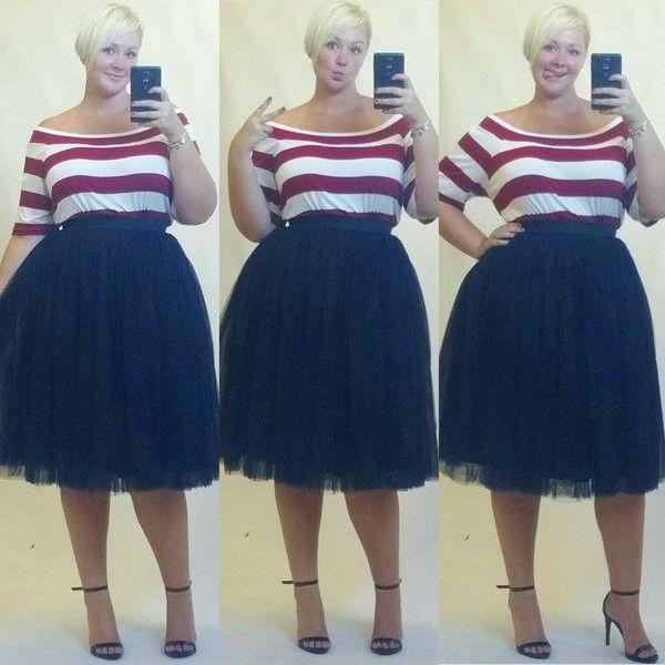 Plus Size Fashion - Plus Size Tutu - Black (Sizes 1X - 6X)