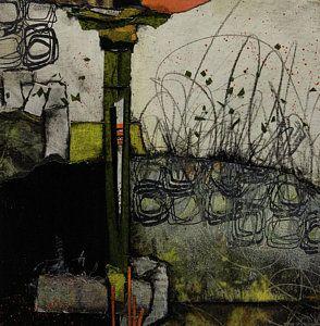 Abstract Landscape Mixed Media - Marsh Antics by Laura Lein-Svencner