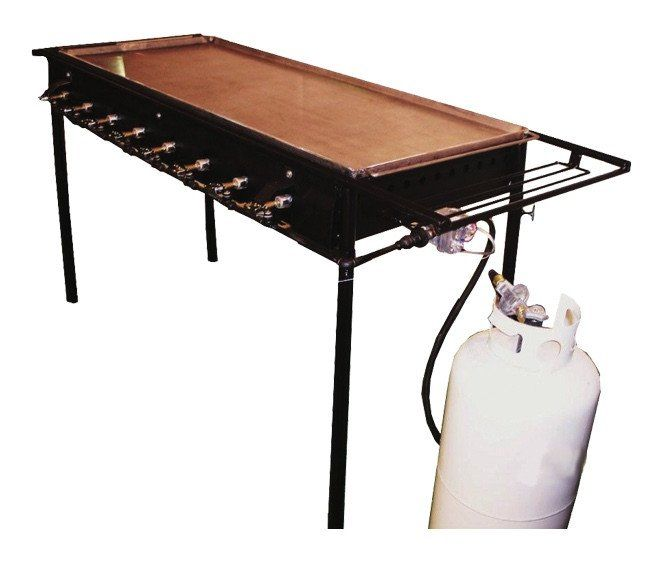 """Holstein Manufacturing Commercial Outdoor 58"""" Propane Griddle/Grill"""