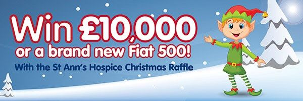 Over £10,000 worth of prizes must be won in the St. Annes Hospice Christmas Raffle 2016!