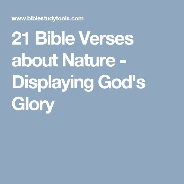 21 Bible Verses about Nature - Displaying God's Glory