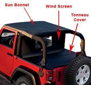Mopar Jeep Wrangler Sun Bonnet Adaptor Kit 82209936 07 09