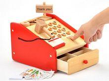 Juguete de madera de la caja registradora tiendas de la línea más grande del mundo juguete de madera de la caja registradora plataforma Guía de compras al por menor en AliExpress.com