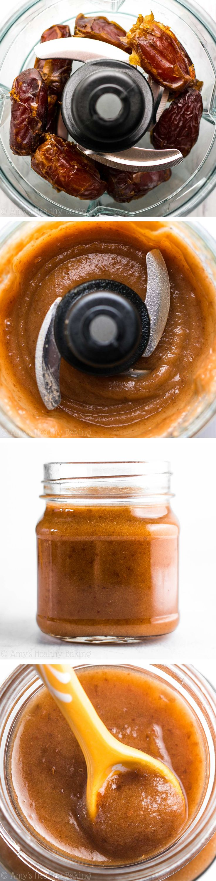 Completely healthy, guilt-free caramel sauce! It's the easiest you'll ever make. You just need 10 minutes & a blender!