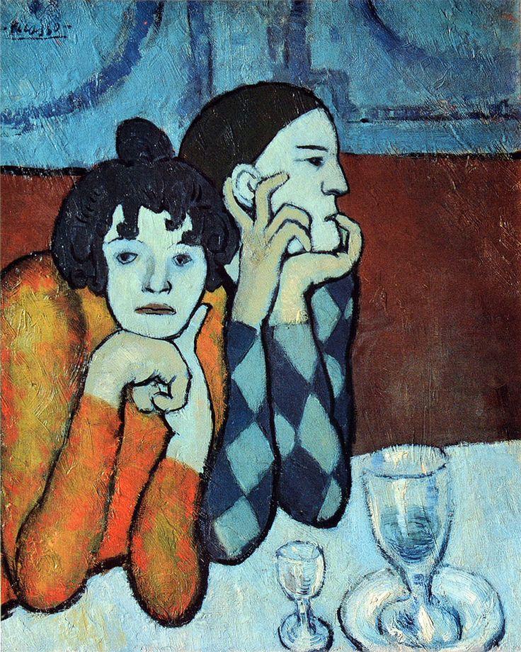 Pablo Picasso - Los dos saltimbanquis (Arlequín y su compañera)