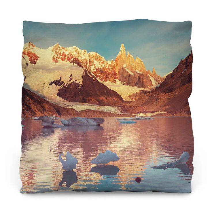 Cerro Torre in Patagonia Outdoor Throw Pillow