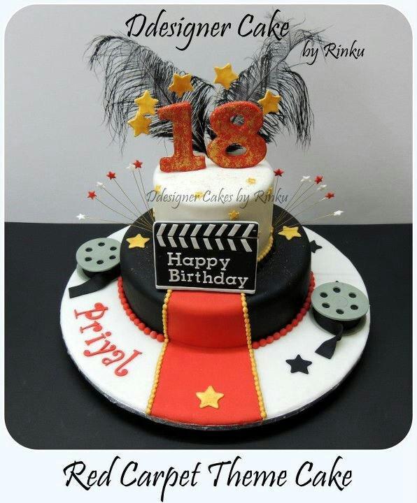 Red Carpet Theme Cake... 18th Birthday Cake