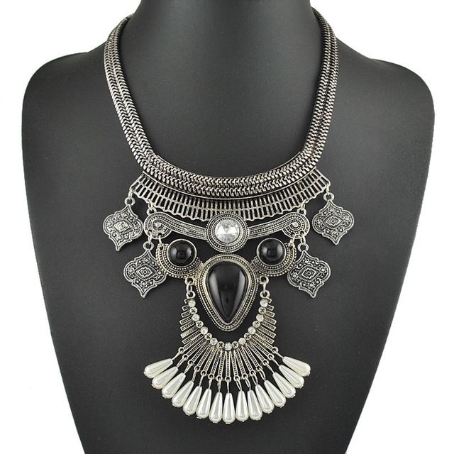 2015 новинка ювелирный дизайнер с горный хрусталь жемчуг коренастый винтаж себе ожерелье