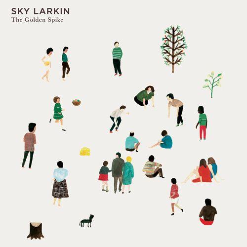 """Studio de création anglais """"Nous Vous"""". Couverture CD de l'album Sky Larkin."""