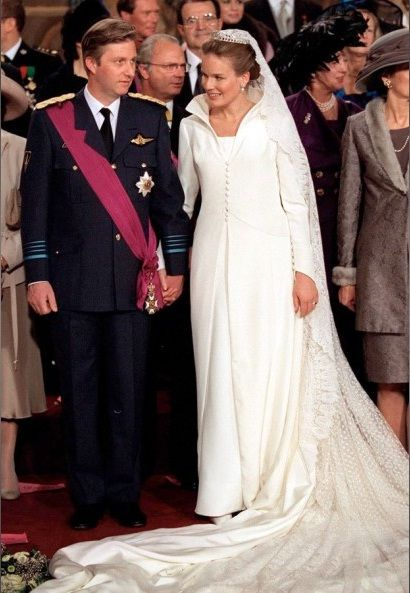 4 décembre 1999 - BRUXELLES - prince héritier Philippe de Belgique -  Mathilde d'Udekem d'Acoz