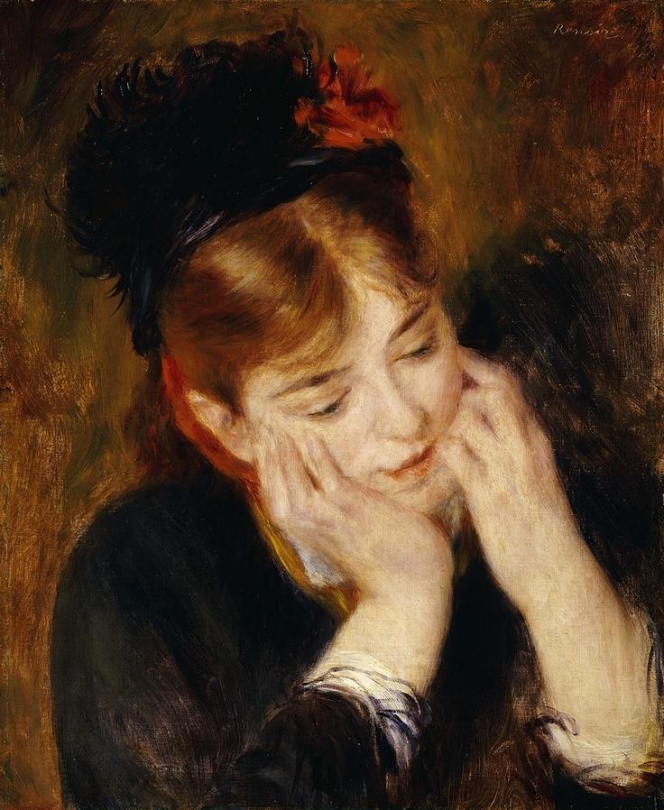 contemplation, renoir (Renoir's work really draws me in, love it!)