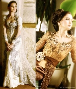 Kebaya modern wedding dress from Indonesia
