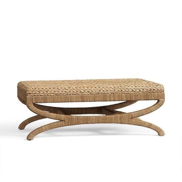 Pottery Barn Seagrass Coffee Table Ottoman ($499) ❤ Liked On Polyvore  Featuring Home,