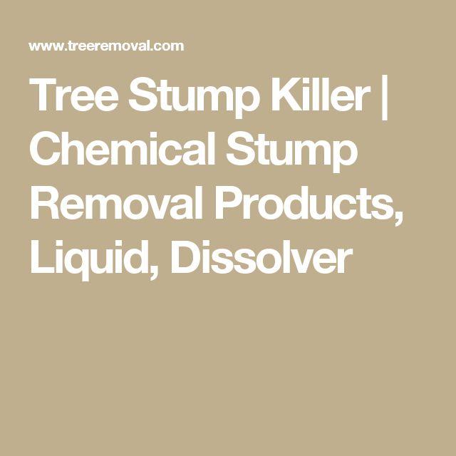 Tree Stump Killer   Chemical Stump Removal Products, Liquid, Dissolver