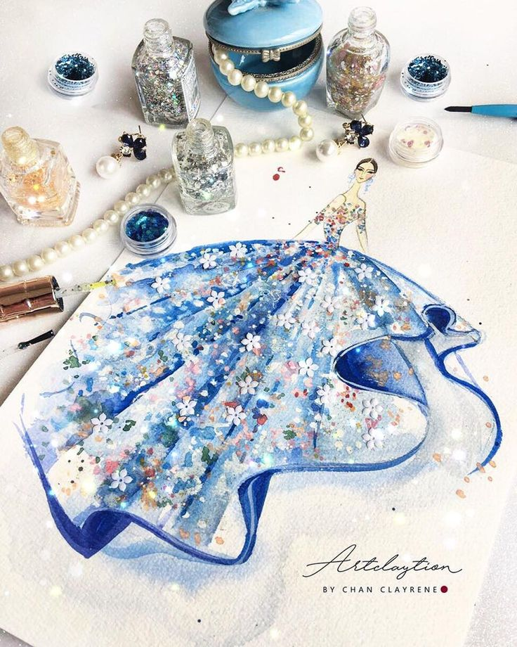 "428 Likes, 11 Comments - Artclaytion By Chan Clayrene (@artclaytion) on Instagram: ""Fairyland in Misty Blue Garden with @michael5inco , Fall Winter 2017. Artclaytion Haute Couture…"""