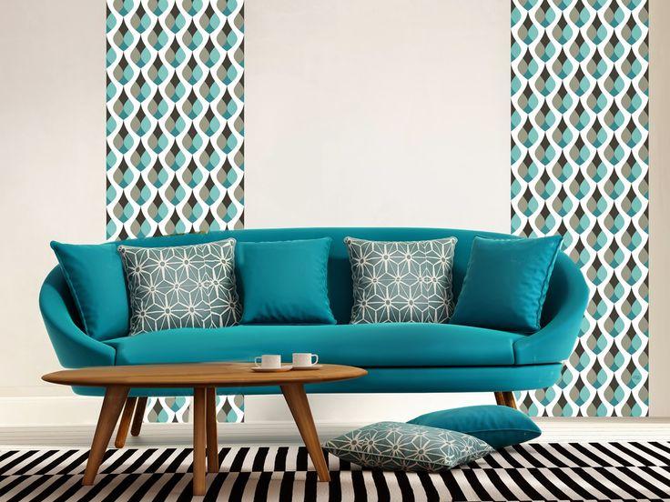 Créer un salon style scandinave à prix doux Joli Place - papier peint scandinave pas cher