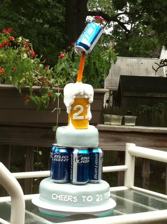 21st Birthday Cake Beer Cake You Re Bakin Me Crazy
