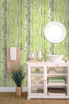 Birch Trees wallpaper from the Eco Chic Collection