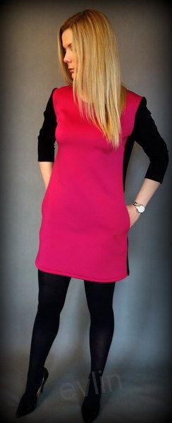 Sukienka 2 kolorowa w evlin na DaWanda.com