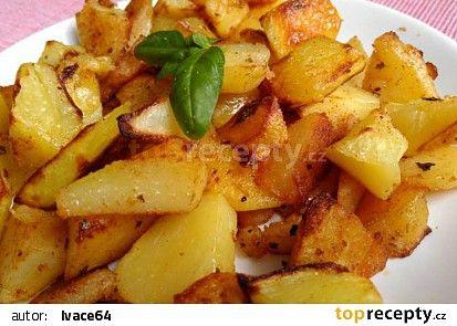 Bazalkovo - tymiánové brambory recept - TopRecepty.cz