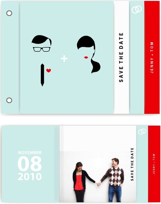 I like the little booklet idea, esp for invites.
