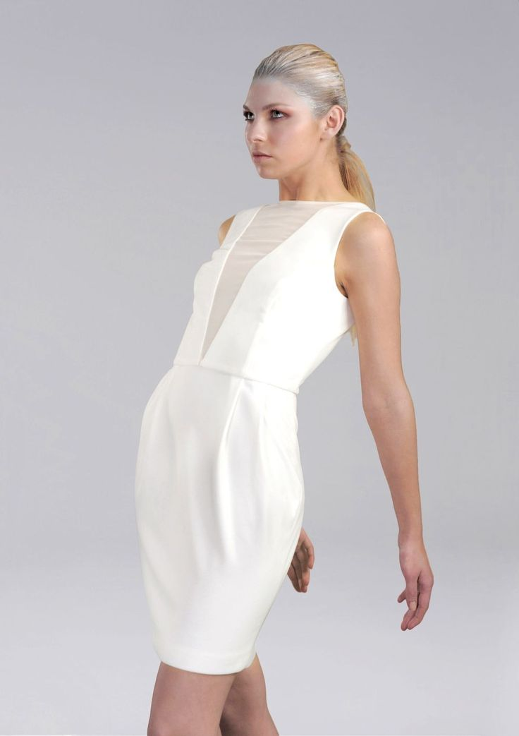 White Candide Dress via CHIARAPERROT. Click on the image to see more!