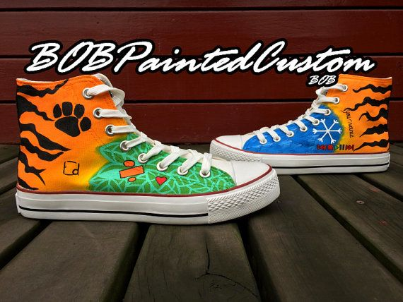 Custom Painted Canvas Shoes Converse Shoes for Men Women High Top Fashion Sneakers Unique Presents for Sale on Etsy, $81.99