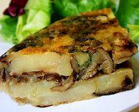 Tortilla com Cogumelos (vegana)