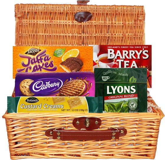 8 best fabulous food gift baskets images on pinterest food gifts food ireland tea cookie hamper 3599 for those who love a cup of tea negle Images