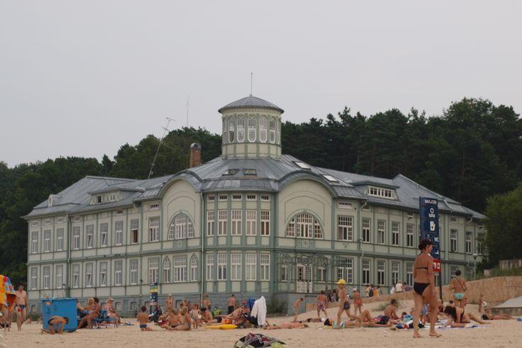 Voormalig Russisch #kuuroord op het strand van #Jurmala