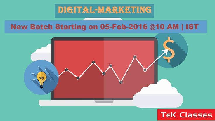 #Digital Marketing new batch starting from 05-03-2K16 @10 AM | IST Hurry up !!! Enroll now for early bird offers.. For more details visit below link- http://tekclasses.in/