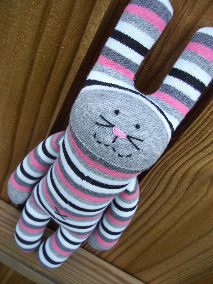 Sock Bunny ~ A Friend for Sock Monkey !!