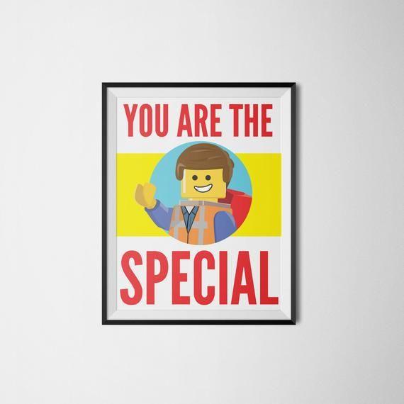 Du bist das Besondere – Lego Movie Art – Lego Print – Filmkunst – Lego Art – Lego Poster – Lego Geburtstag – Digitaldruck – Instant Download   – Classroom