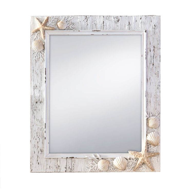 11 x 13 Sand Piper White/Natural Wall Mirror