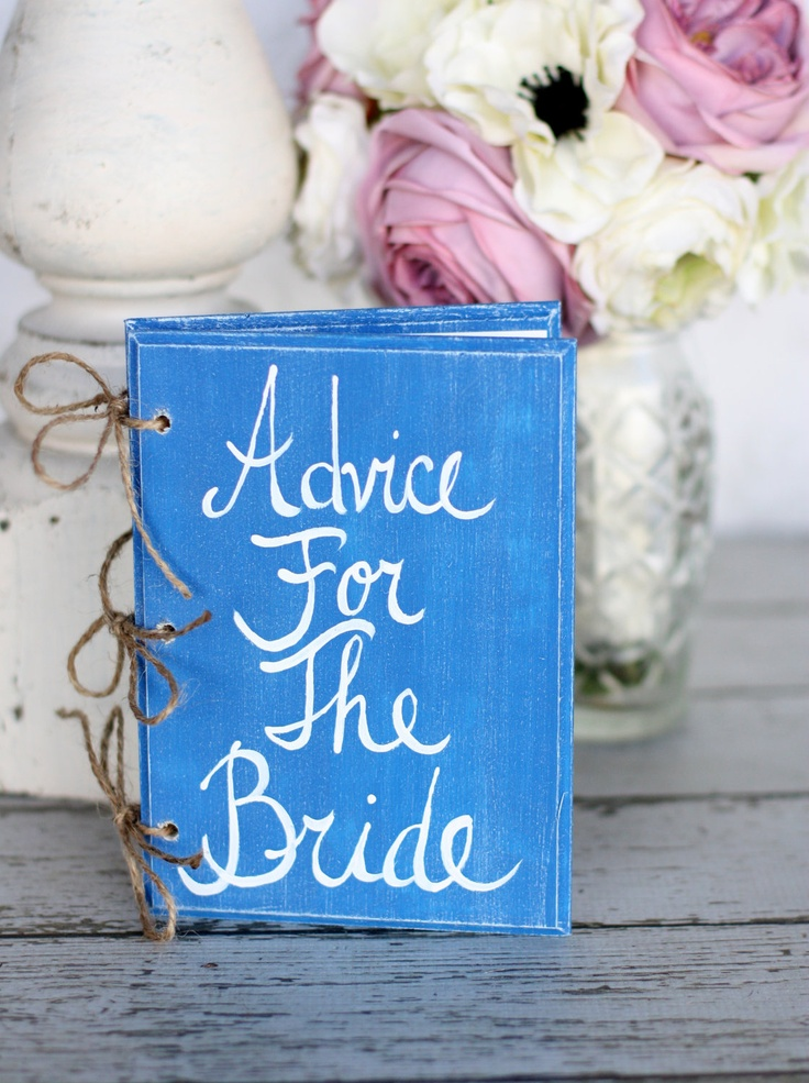 Wedding Guest Book Bridal Shower Advice For