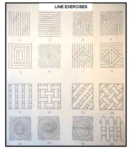 free hand sketching exercises - Google Search