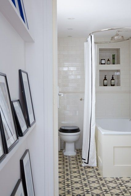 See all our small bathroom design ideas on HOUSE by House & Garden including this small bathroom with metro tiles.