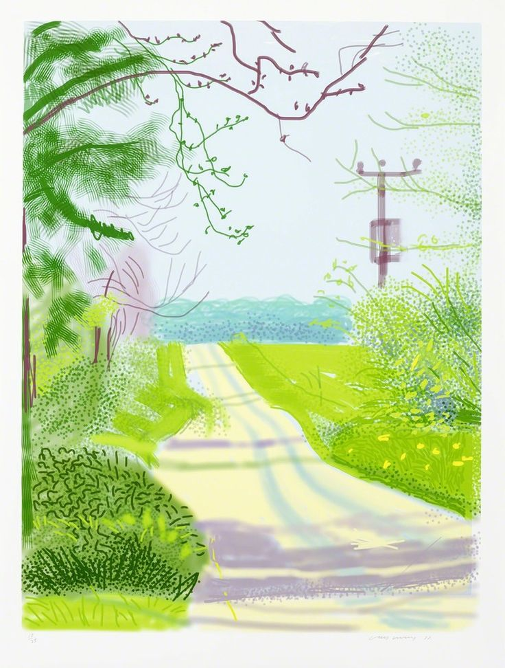 David Hockney - The Arrival of Spring in Woldgate, East Yorkshire in 2011 (twenty eleven) - 23 April