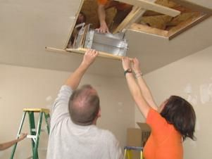 Attics can offer an excellent storage location, but attics sometimes don't come with easy access. Learn how to install an attic ladder with these easy step-by-step directions.