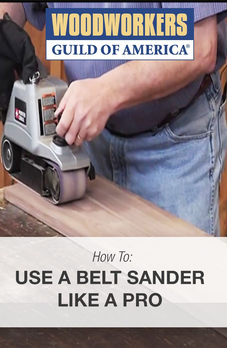 Bruce Kieffer discusses some of his best belt sander techniques, so you can learn how to properly utilize the belt sander in your workshop.