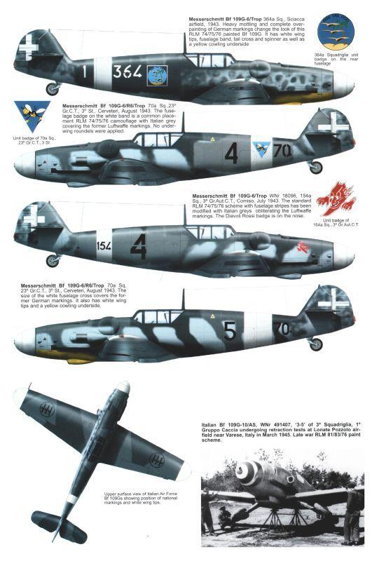 Messerschmitt Bf-109 in Italian Colors.