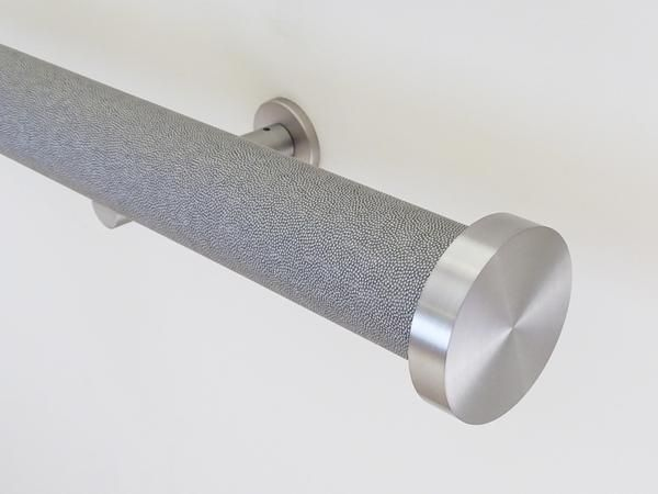 50mm diameter wrapped and tracked dusk pole with steel mini disc finials
