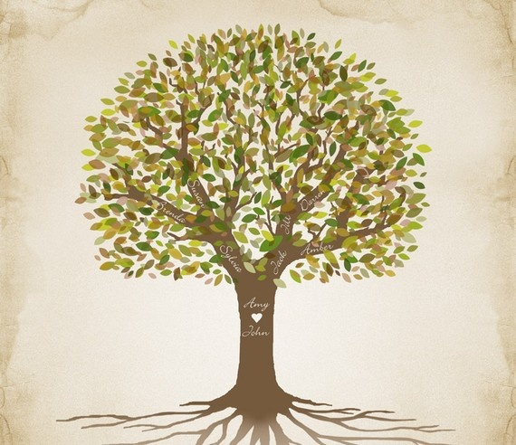 Genealogy Family Tree  up to 4 Generations / by CustombyBernolli, $23.00