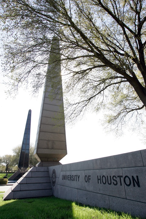 University of Houston Campus Art Entrance markers