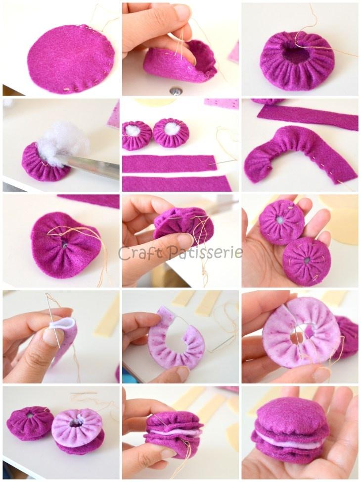 DIY macaron di feltro /DIY felted macaron | Girls, Dr. who ...