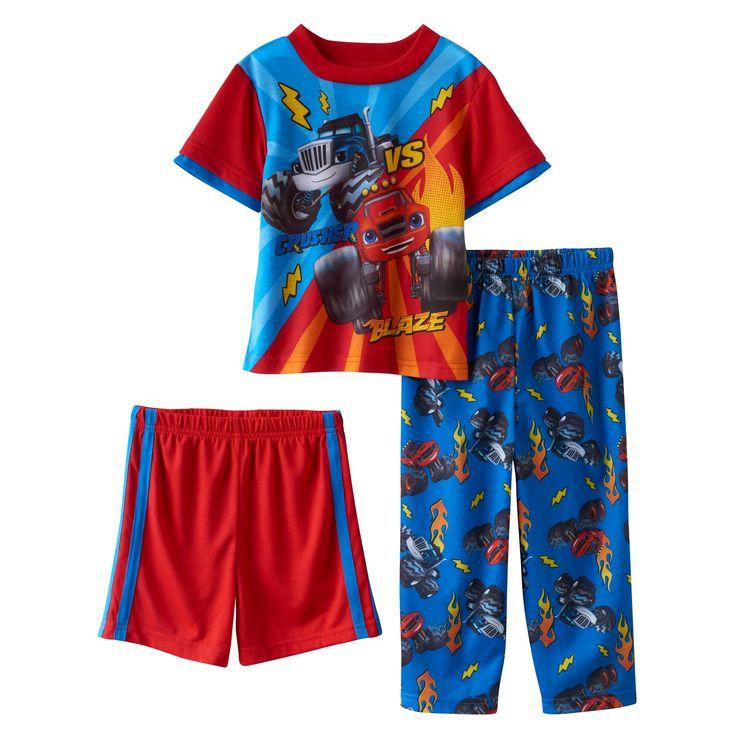 Toddler Boy Blaze & the Monster Machines Blaze vs. Crusher 3-pc. Pajama Set, Size: 2T, Multicolor