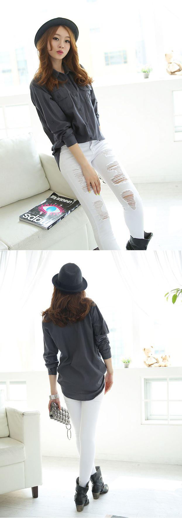 Black dress qoo10 - Qoo10 Singapore Grey Shirt White Distressed Pants With Fedora Fashion Style