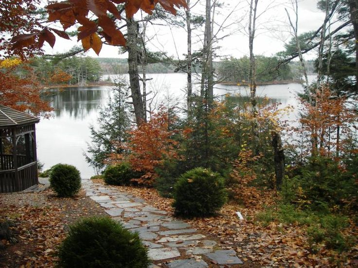 17 best images about landscapes for waterfront parcels on for Lake home landscape design