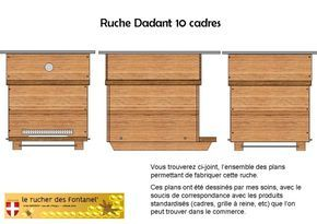 #RUCHE fabrication et plan de ruche Dadant 10 cadres