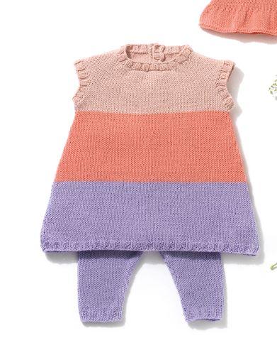 Heft Baby 72 Frühjahr / Sommer   45: Baby Kleid   Rosé / Helllila / Hellrosa